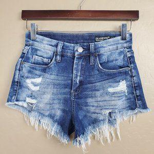Blank NYC High Rise Cutoff Wedge Denim Shorts